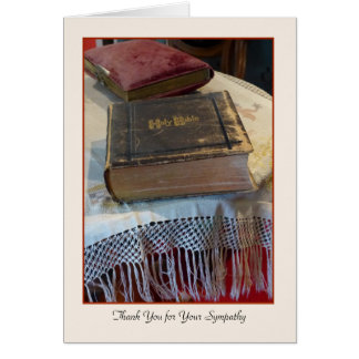Thank You for Your Sympathy, Vintage Bible Card