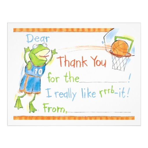Thank You Froggy Personalized Flyer