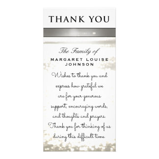 Thank You from Family - Water Glitters Photo Cards