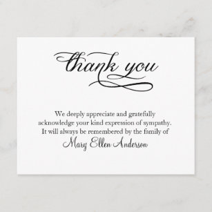 Funeral Thank You Cards Zazzle Uk