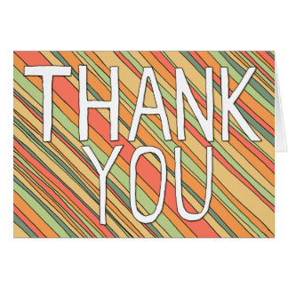 Thank You Funky Stripes notecard Greeting Card