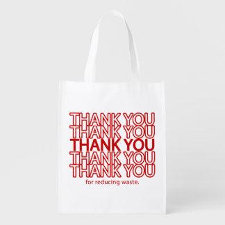 Thank You Funny Grocery Reusable Shopping Bag