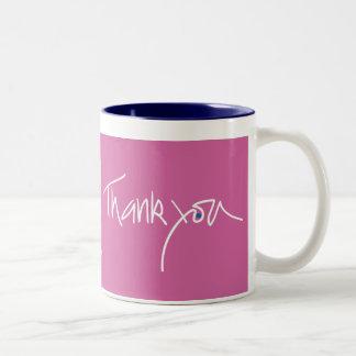 Thank you fuschia color mug