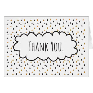 Thank You Geometric Triangles Card
