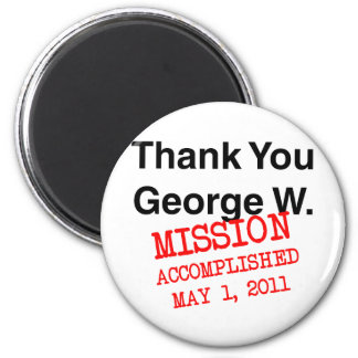 Thank You George W 6 Cm Round Magnet