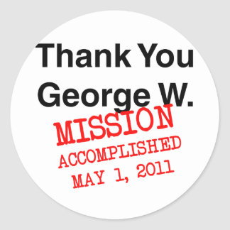 Thank You George W Round Sticker