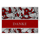 Thank You German Informal Greeting - Red and Whit Card