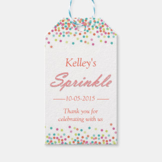 Thank you gift tag for baby sprinkle