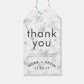 THANK YOU Gift Tags Wedding Favors Marble Pattern