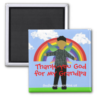 Thank-you God for my Grandpa/Grandfather Magnet