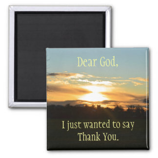 Thank You God Magnet