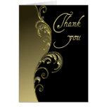 Thank You ~ Gold & Black Greeting Card