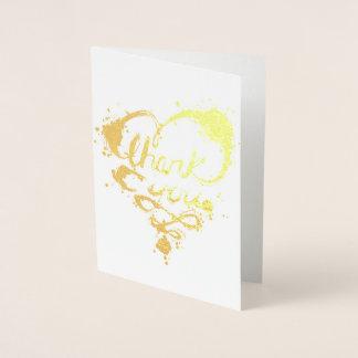 thank you gold lights foil card