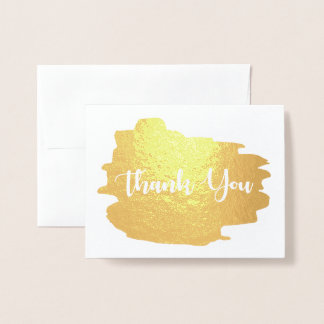 Thank you Gold watercolor Foil Card