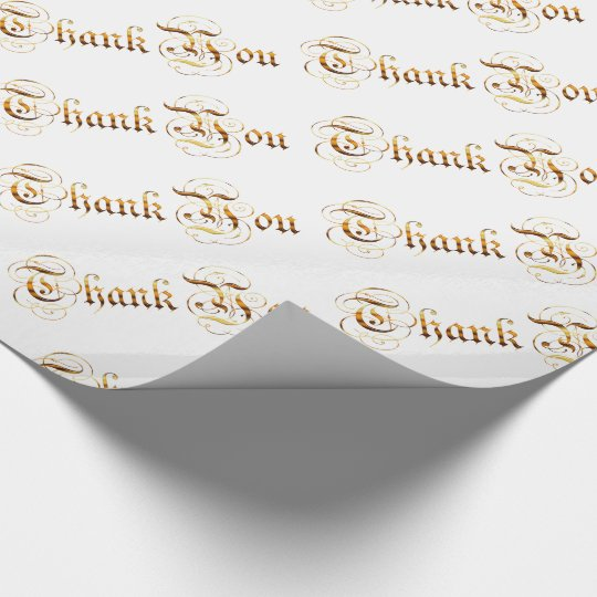 Thank you. golden text. wrapping paper