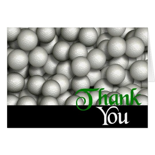 Thank You Golf Balls Card