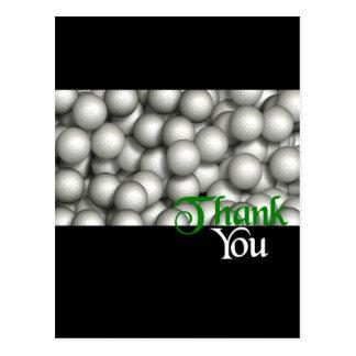 Thank You Golf Balls Postcard
