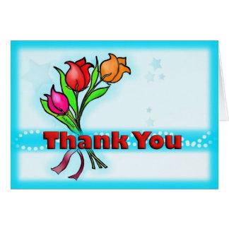 THANK YOU gorgeous cute flowers cartoon CARD