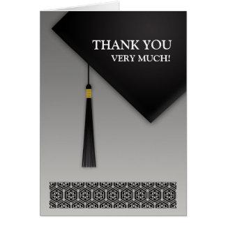 Thank You Graduation Black Hat Folded Card