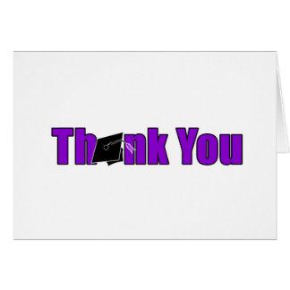 Thank You Graduation Purple and Black Card