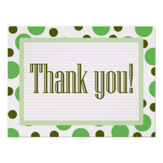 Thank You Green Dots Posters