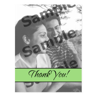 Thank You - Green Postcard
