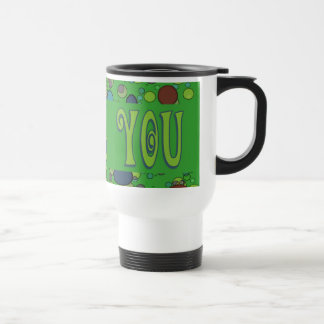 Thank You green Stainless Steel Travel Mug