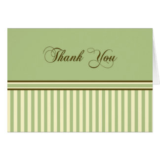 Thank You Green Stripes Greeting Card