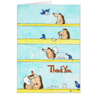 THANK YOU greeting card by Nicole Janes