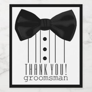 Thank You Groomsman Wine Label
