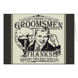 Thank You Groomsmen Note Card