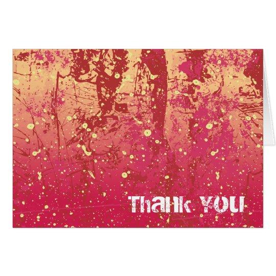 Thank You Grunge Urban Sunrise Card