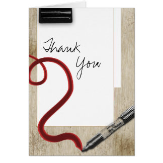 Thank you handwritten school stationery card