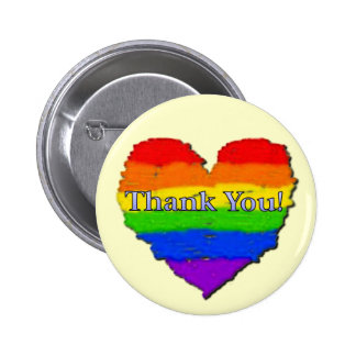 Thank You Heart 6 Cm Round Badge