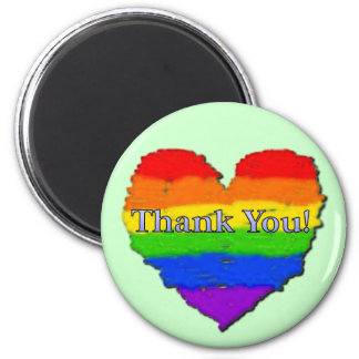 Thank You Heart 6 Cm Round Magnet