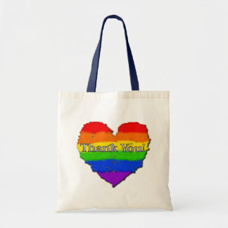 Thank You Heart Budget Tote Bag