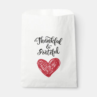 Thank You Heart Red Wedding Party - Love & Thanks Favour Bags