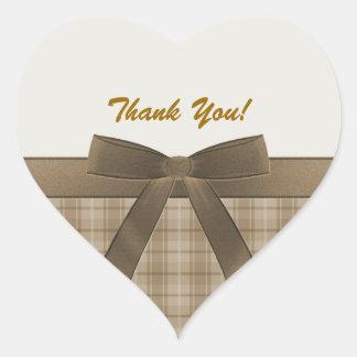 Thank You Heart Shaped Sticker