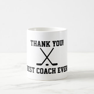 Thank you hockey coach coffee mug