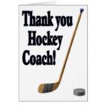 thank you hockey coach greeting cards