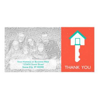 thank you home key customized photo card