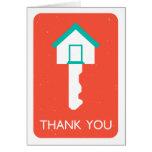thank you housekey greeting card