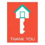 thank you housekey postcard