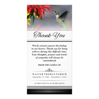 Thank You Hummingbird Words Cannot Express Card
