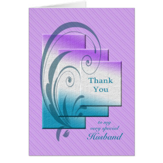 Thank you husband, with elegant rectangles card