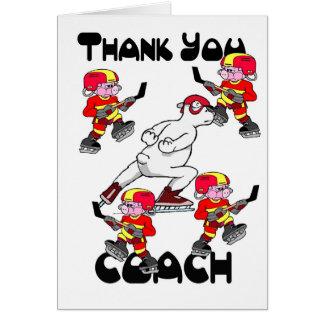 Thank you Ice Hockey Coach Greeting Card