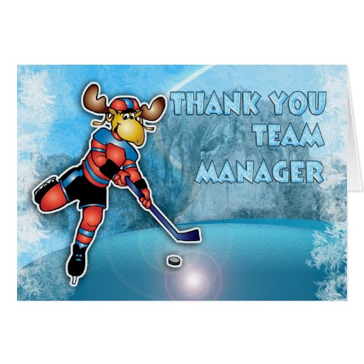 Thank You Ice Hockey Team Manager Greeting Card