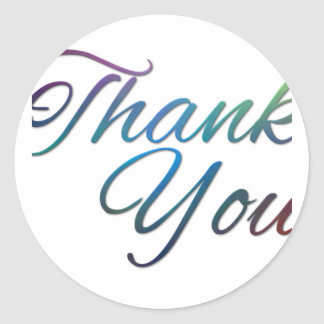 Thank You Images Round Sticker