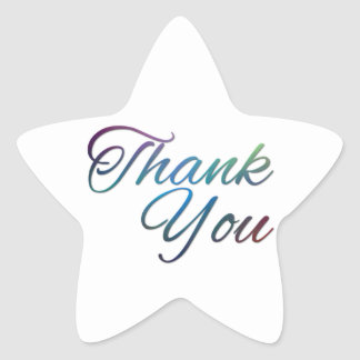 Thank You Images Star Sticker