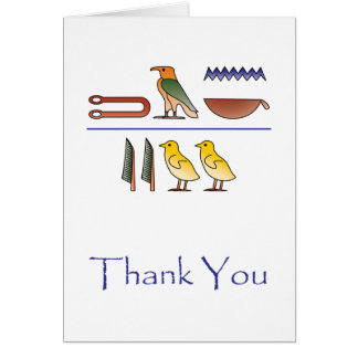 Thank You in Egyptian Hieroglyphics Card